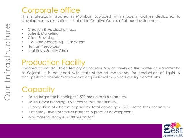 Zest Aromas Company Profile