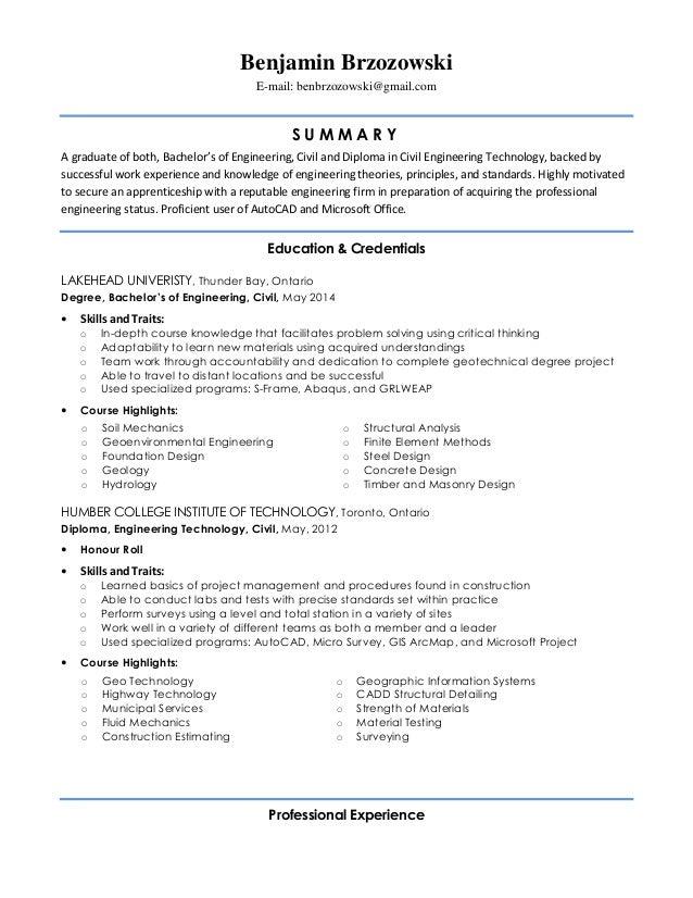 Benjamin Brzozowski Resume Linkedin. Benjamin Brzozowski E Mail:  Benbrzozowski@gmail.com S U M M A R Y A Graduate Of Both ...