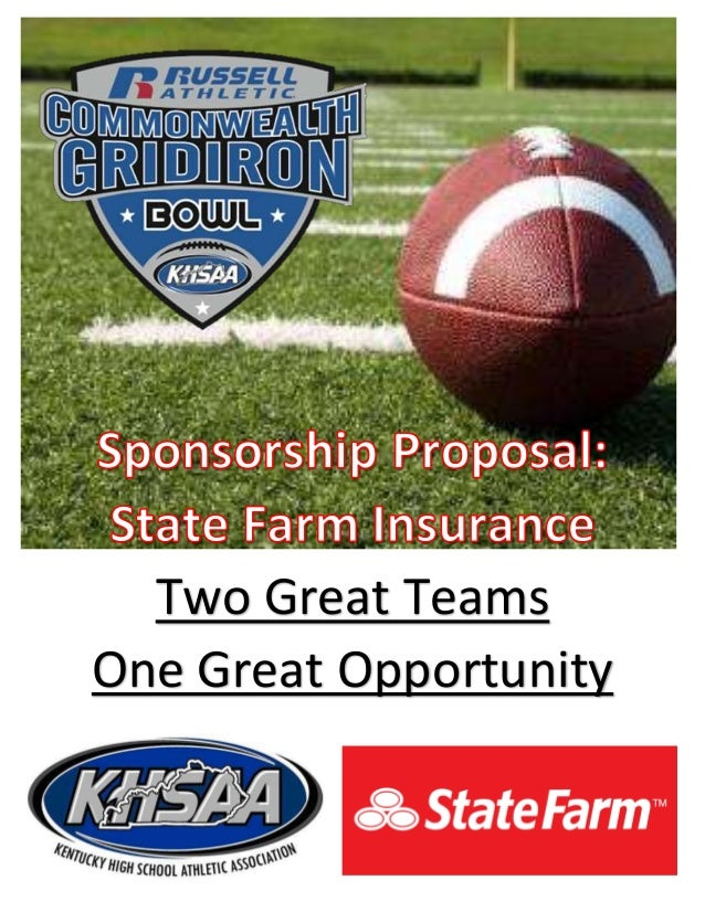 Sponsorship Proposal For State Farm Insurance