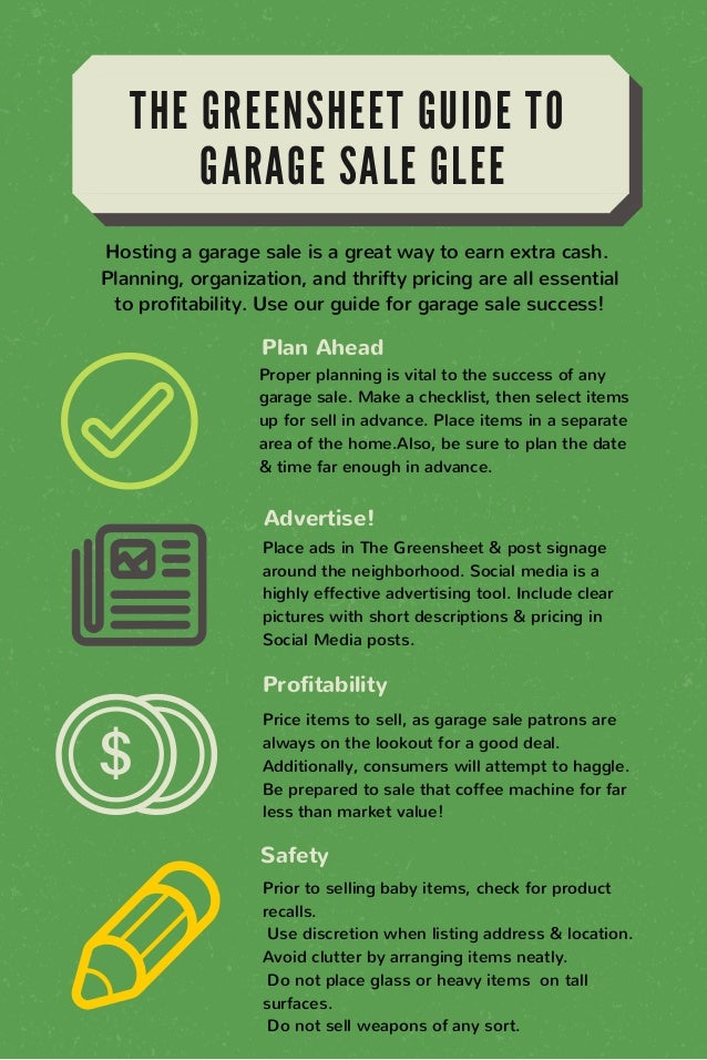 Greensheet Garage Sale Guide1 – How To Plan A Garage Sale