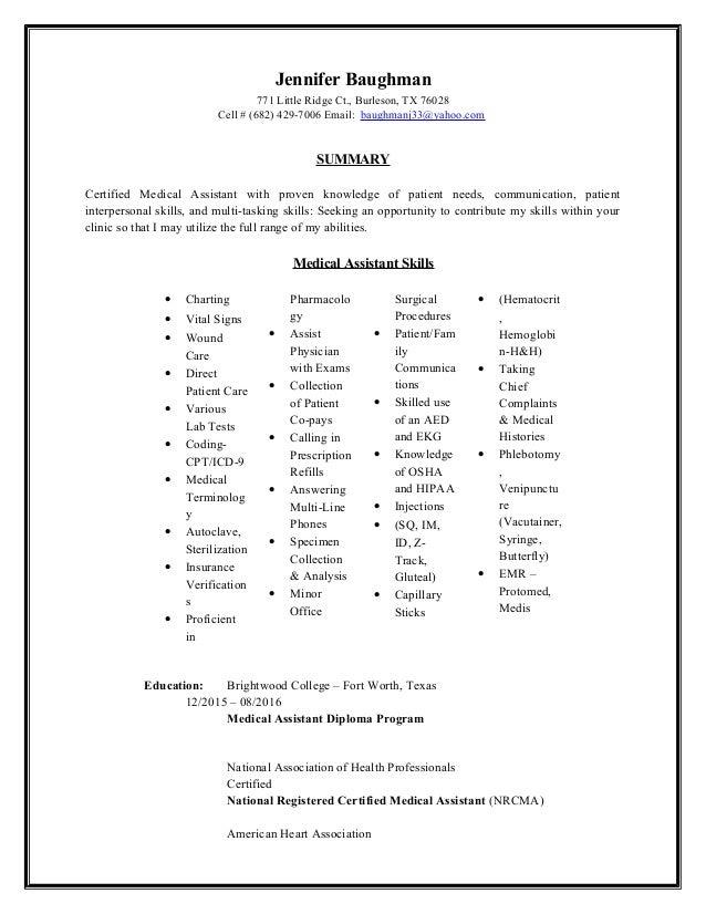 Ccma Resume