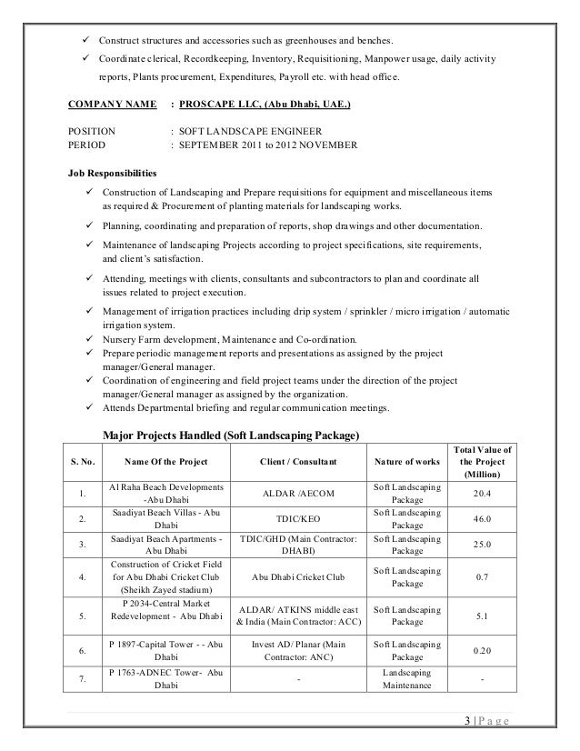 horticulture resumes