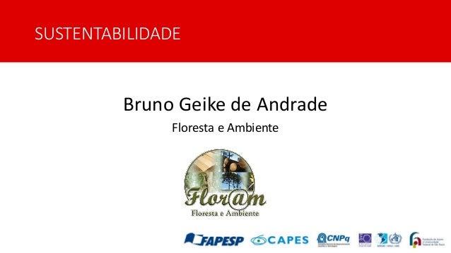 SUSTENTABILIDADE Bruno Geike de Andrade Floresta e Ambiente