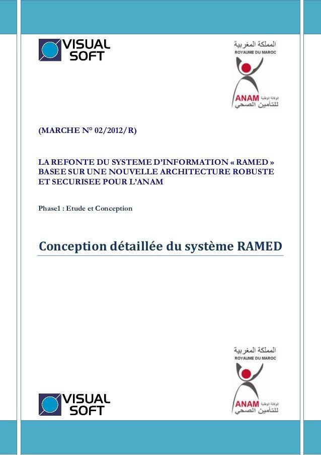 1 (MARCHE N° 02/2012/R) LA REFONTE DU SYSTEME D'INFORMATION « RAMED » BASEE SUR UNE NOUVELLE ARCHITECTURE ROBUSTE ET SECUR...