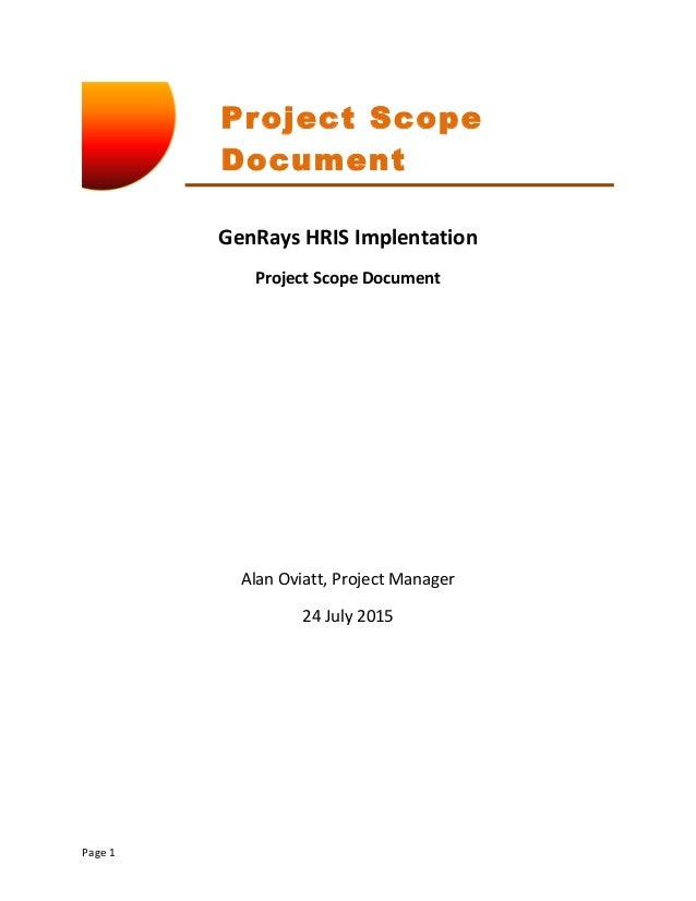 project scope document Define your project scope statement with mindview software.