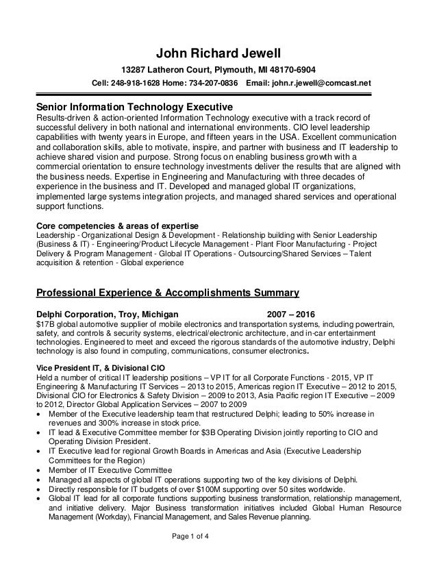 what goes in the summary of a resume cv01 billybullock us