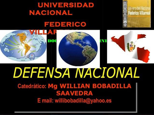 UNIVERSIDAD   NACIONAL      FEDERICO   VILLARREAL          DOCTORADO EN ADMINISTRACIONCatedrático: Mg WILLIAN BOBADILLACat...