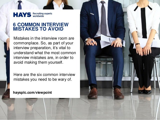 Mistakes in the interview room are commonplace. So, as part of your interview preparation, it's vital to understand what t...