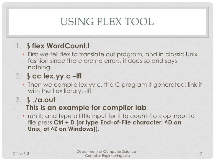6 Compiler Lab Flex
