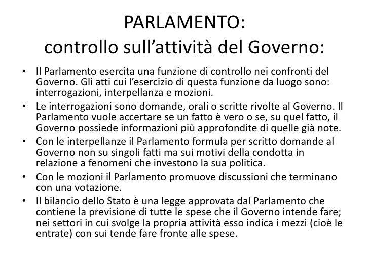 Lo stato italiano e i suoi organi for Schema parlamento italiano