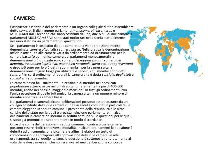 Lo stato italiano e i suoi organi for Le due camere del parlamento