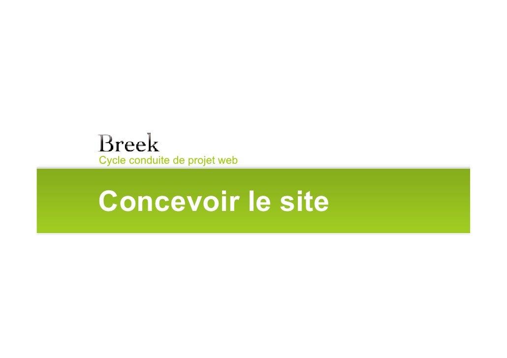 Cycle conduite de projet web    Concevoir le site