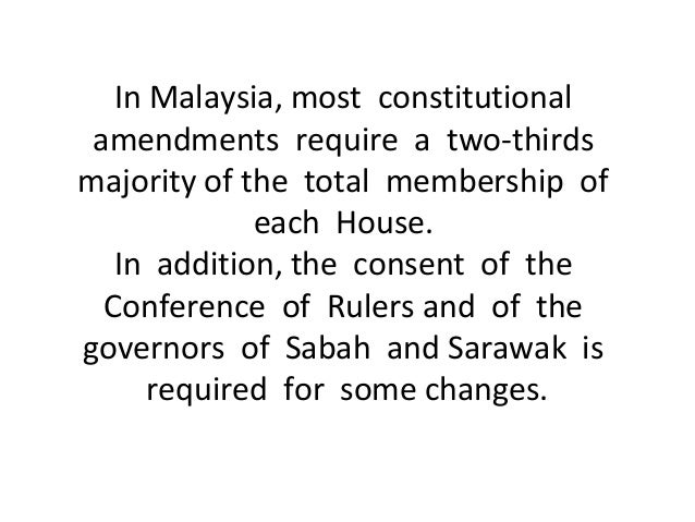 constitutional supremacy in malaysia Supremacy of the federal constitution professor: only parliament can limit freedom of expression  he described the ban on the bahasa malaysia version of allah.