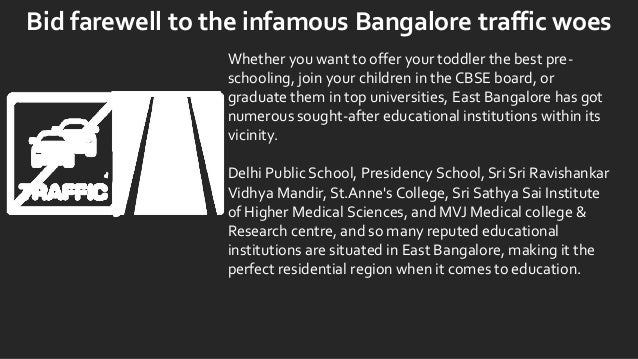 Bid farewell to the infamous Bangalore traffic woes Whether you want to offer your toddler the best pre- schooling, join y...