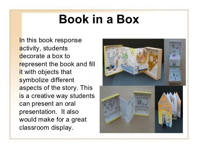 what are some creative ways to present a book report