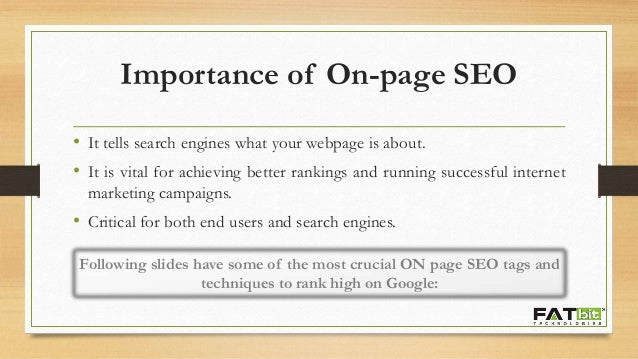 6 Crucial On-Page SEO Techniques Slide 2