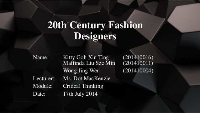 6 Ct Ppt Kitty Maffinda Liu Wong 20 C Fashion Designers 2014