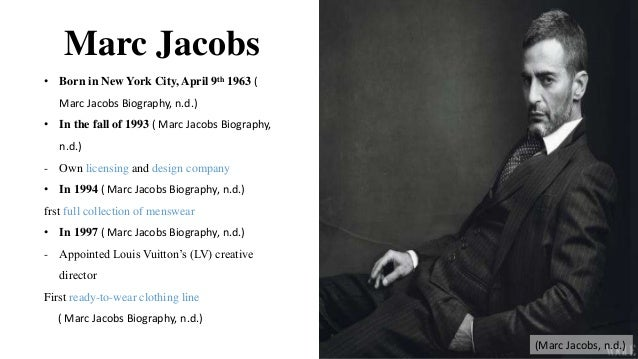 Marc Jacobs Fashion Designer Biography Induced Info