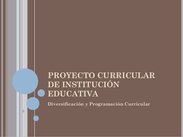 EL PCI ES EL CURRÍCULO DE LA INSTITUCIÓN EDUCATIVA