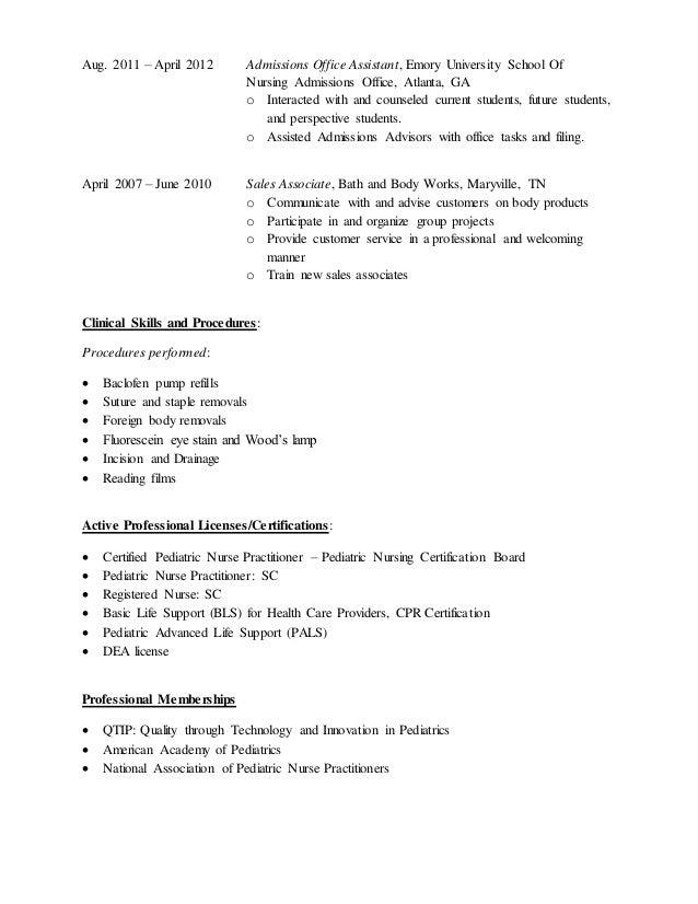 Free Professional Resume » pediatric nursing certification board ...
