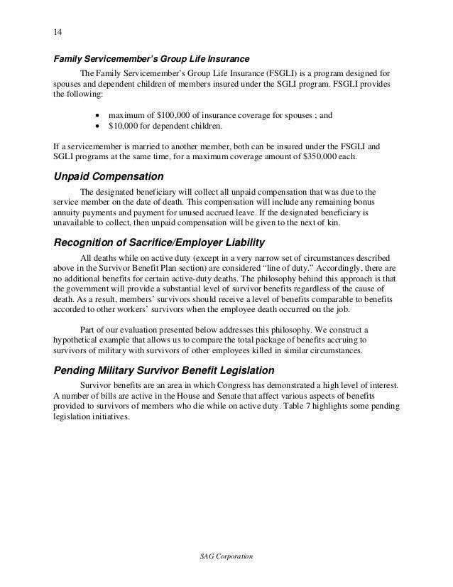 SAG Death Benefits OSD Study 2004