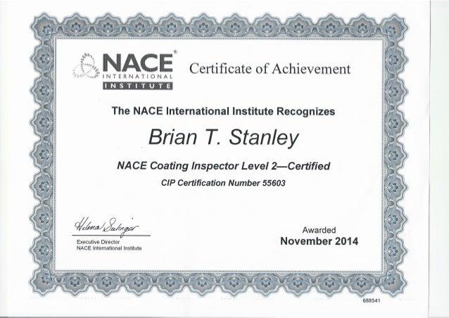 nace level coating inspector certification slideshare stanley brian upcoming