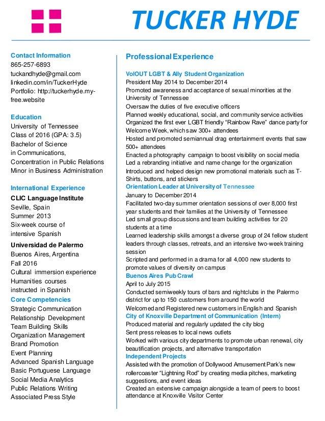 tucker hyde s resume