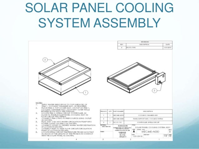Mec441 Solar Panel Cooling System
