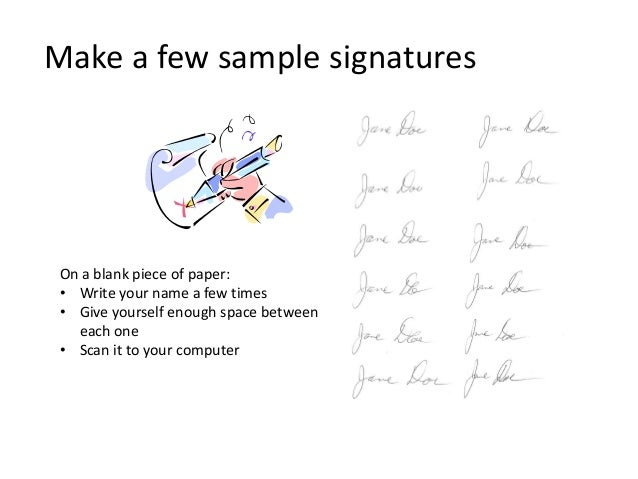 Adding an electronic signature to a document