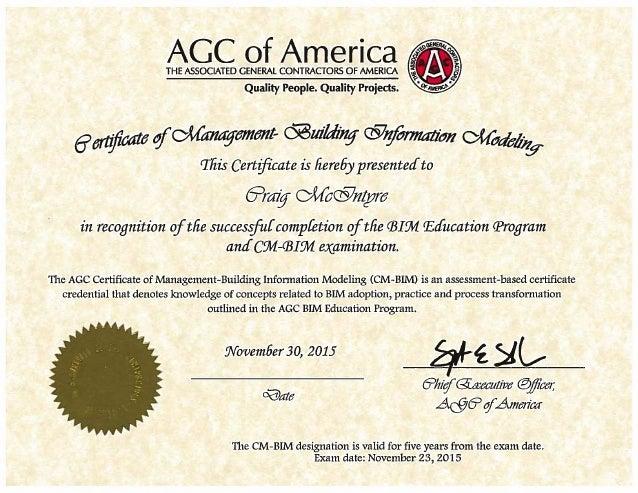 Cm Bim Certification