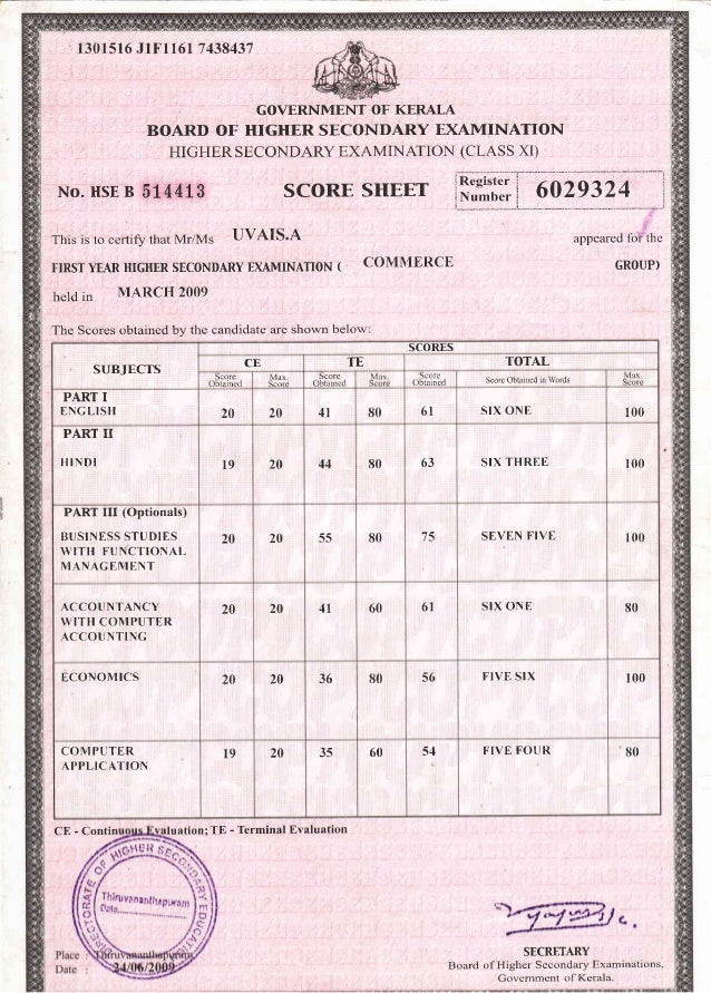 No H 17664C GENERAL EDUCATION DEPARTMENT SECONDARY SCHOOL LEAVING CERTIFICATE (Issued under the Authority of the Governmen...