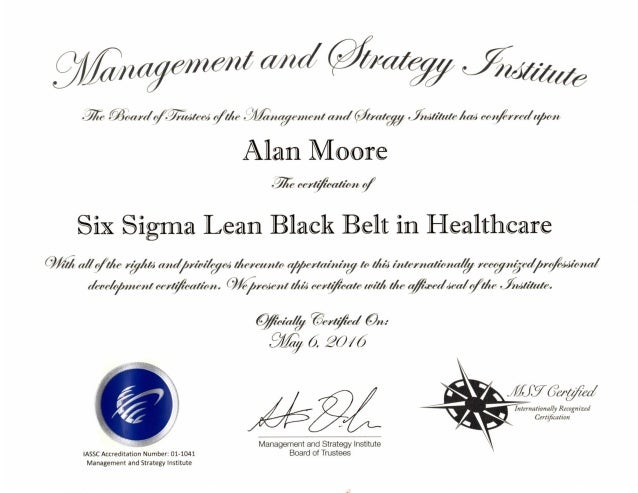 certificate kaizen facilitator belt lean healthcare slideshare 6sigma upcoming