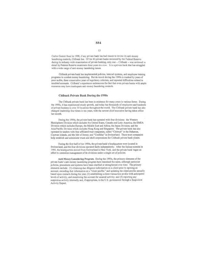 REPORT-Private Banking & Money Laundering (Nov 1999)