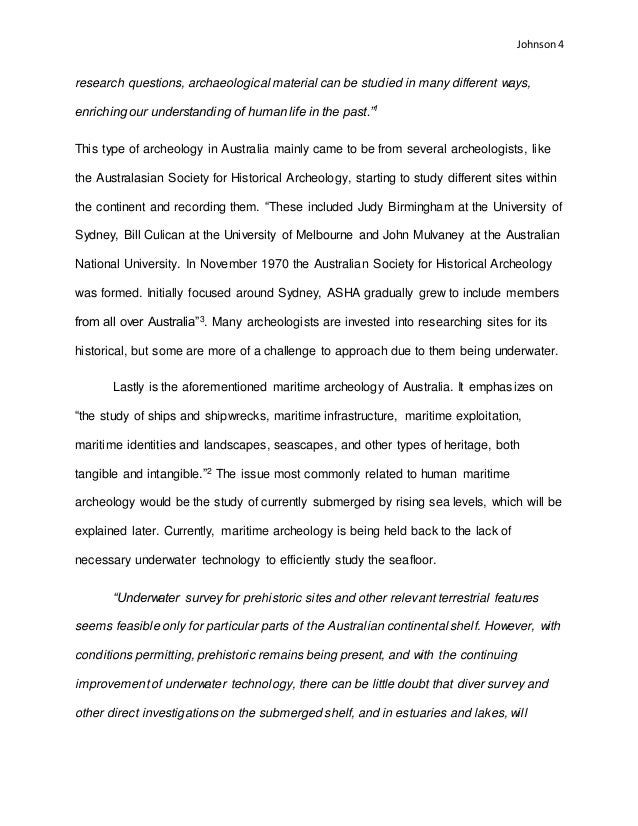 n archaeology essay depending on the quality of documentation and 4