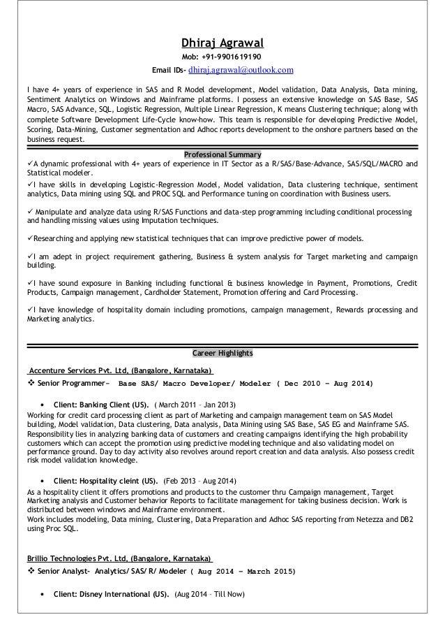 resume dhiraj agrawal analytics