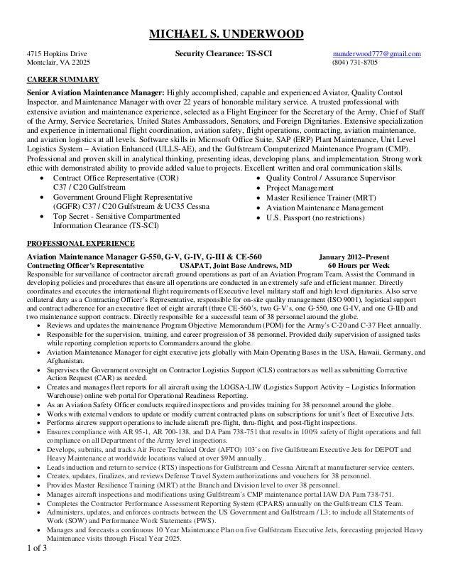 Michael Underwood Resume-08JUN2015 3page PDF
