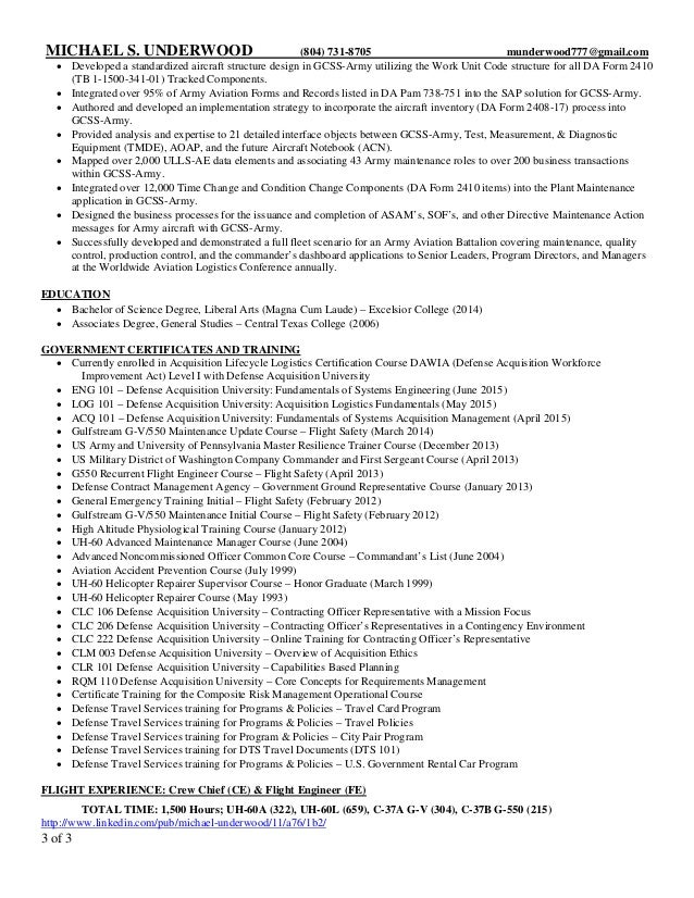 2 Of 3; 3.  3 Page Resume