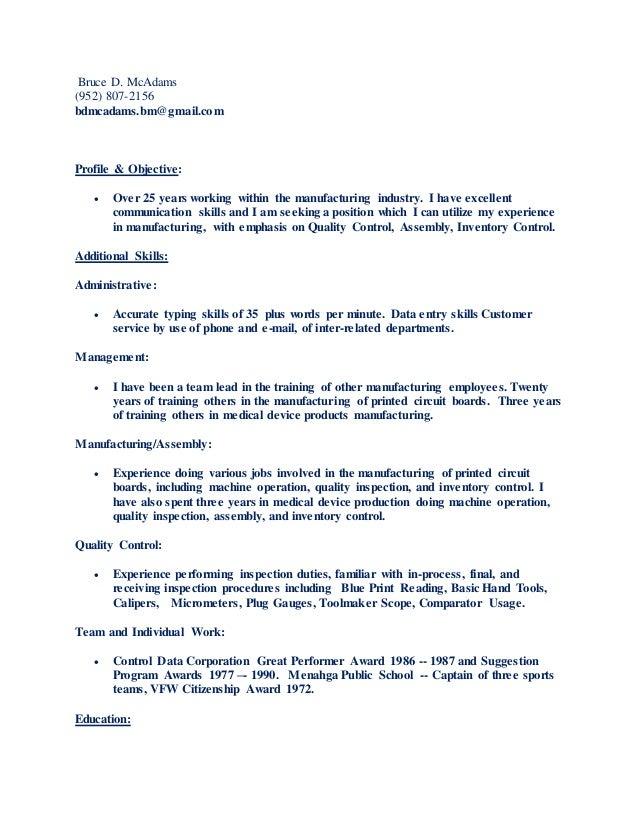 bruce d mcadams resume 05 01 2015