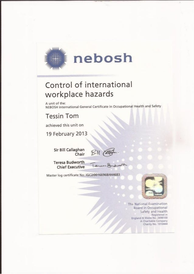 nebosh certificate unit d For further opinions on the topic, i recommend that you search the forums on sites such as iosh & hsfb, where there are plenty of useful insights from othersyou can access the latest nebosh certificate level examiner's reports here.