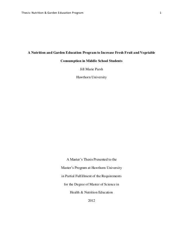 Nutrition thesis