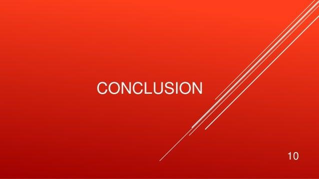 CONCLUSION 10