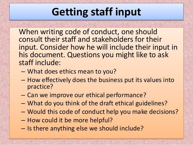 Code of Ethics / Conduct