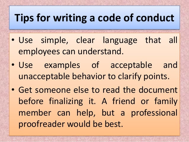the importance of employees to understand the code of ethics Essays policies and statements that are who does the code apply to this code applies to anyone who is employed by or works the importance of employees to understand.