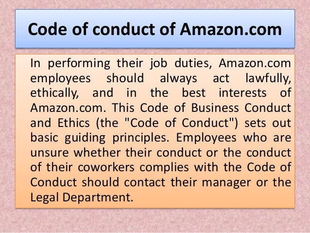 amazon code of ethics deutsch