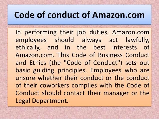 amazon code of ethics deutsch