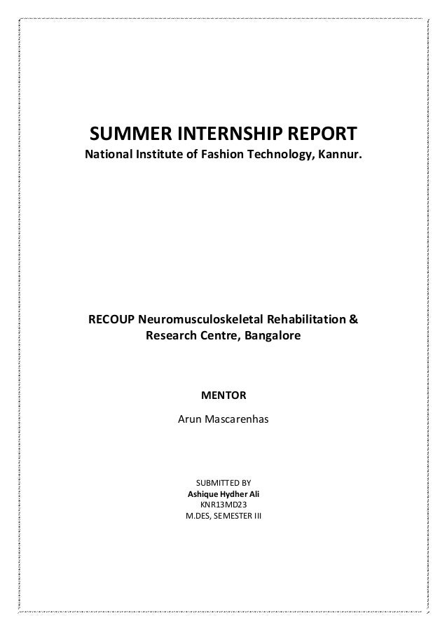 Summer Internship Report