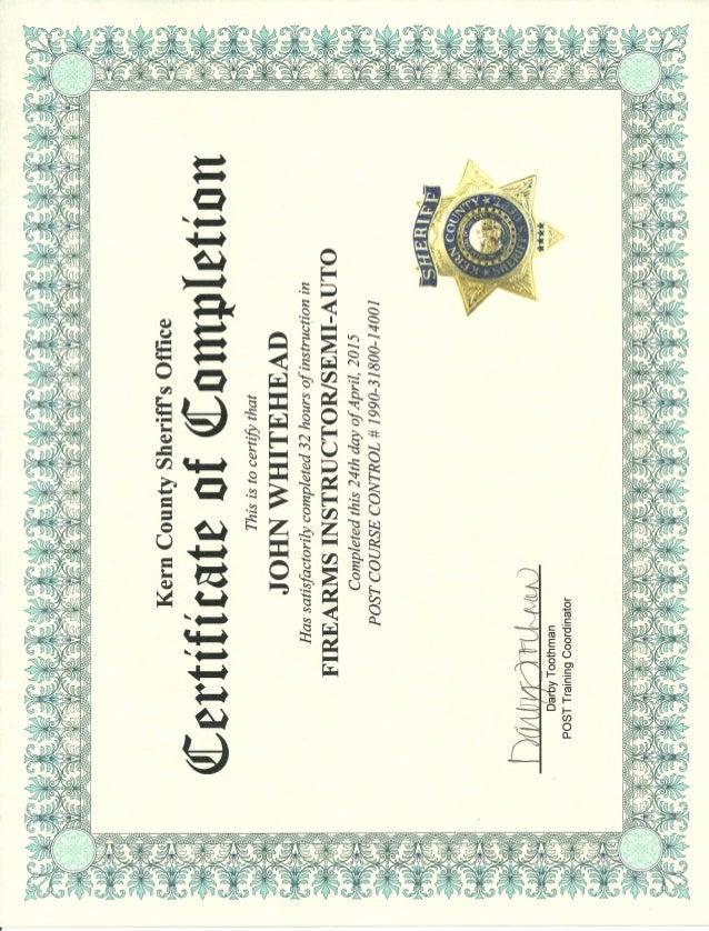 Firearms Instructor Certification