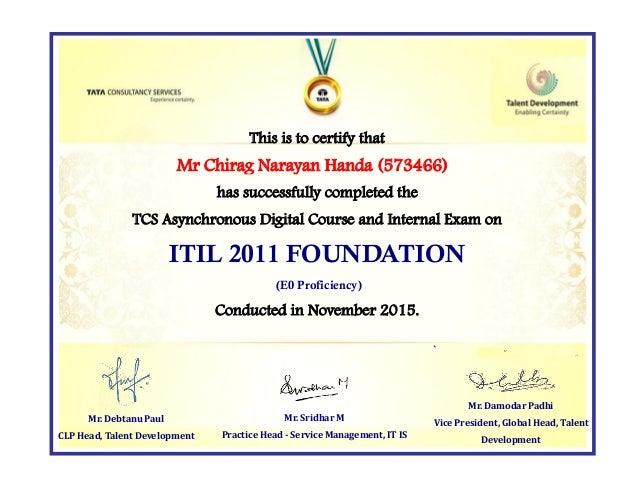 Itil Foundation Tcs