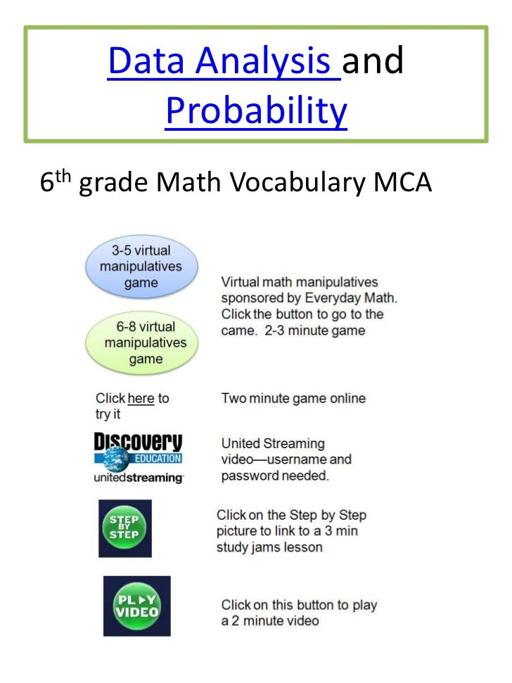 6 data analysis and probability