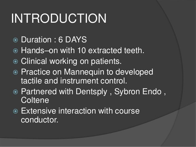 Course Content –  Relevant lectures, extensive hands on as well as clinical experience on patients aimed to expedite the ...